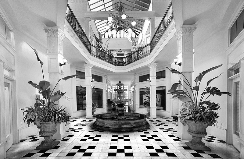 The Arcade Building Atrium in infared